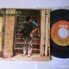 Discos de vinilo: BOB DYLAN - CAMBIO DE GUARDIA + NUEVO PONY - SINGLE - CBS 1978 SPAIN. Lote 125404971