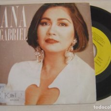 Discos de vinilo: ANA GABRIEL - ES DEMASIADO TARDE - SINGLE PROMOCIONAL 1993 - EPIC. Lote 125409015