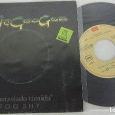 Discos de vinilo: KAJAGOOGOO - TOO SHY / DEMASIADO TIMIDA - SINGLE - EMI 1983 SPAIN. Lote 125416971