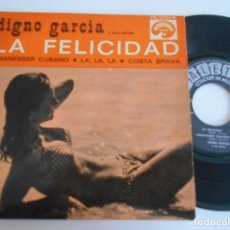 Discos de vinilo: DIGNO GARCIA Y SUS CARIOS-EP FRANCES-LA FELICIDAD +3. Lote 125420679