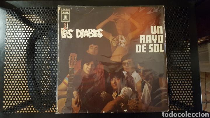 L.P. - LOS DIABLOS - UN RAYO DE SOL - EMI - MADE IN GERMANY - RARO (Música - Discos - LP Vinilo - Grupos Españoles 50 y 60)