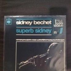 Discos de vinilo: SIDNEY BECHET-SUPERB SIDNEY. Lote 125428851