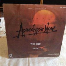 Discos de vinilo: THE DOORS - THE END - B.S.O. APOCALYPSE NOW / SINGLE 45RPM. GERMANY 1979. Lote 125439167