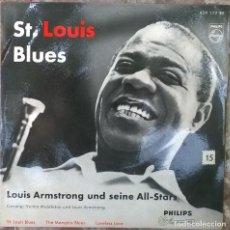 Discos de vinilo: LOUIS ARMSTRONG ALL STARS. ST. LOUIS BLUES/ THE MEMPHIS BLUES/ LOVELESS LOVE. PHILIPS, HOLLAND 1959 . Lote 125644719