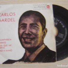Discos de vinilo: CARLOS GARDEL - LA CUMPARSITA + CAMINITO + EL DIA QUE ME QUIERAS..- EP 1963 - RCA. Lote 125815995