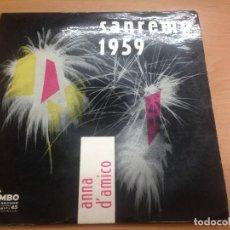 Discos de vinilo: EP ANNA D'AMICO FESTIVAL SAREMO 1959/COSI COSI/TUA/UNA MARCIA IN FA/UN BACIO SULLA BOCCA. Lote 125824527