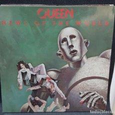 Discos de vinilo: QUEEN - FREDDIE MERCURY - NEWS OF THE WORLD - LP - ESPAÑA - PORTADA ABIERTA - EXCELENTE. Lote 125825319