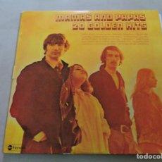 Discos de vinilo: THE MAMAS & THE PAPAS - 20 GOLDEN HITS LP SPAIN GATEFOLD. Lote 125827883