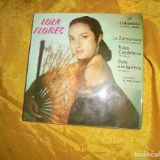 Discos de vinilo: LOLA FLORES. LA ZARZAMORA + 3. EP. COLUMBIA , 1962. . Lote 125831943
