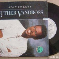 Discos de vinilo: LUTHER VANDROSS - STOP TO LOVE - SINGLE 10 PULGADAS UK 1987 - EPIC. Lote 125846451