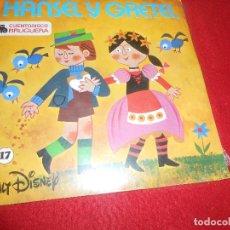 Discos de vinilo: HANSEL Y GRETEL CUENTO INFANTIL 7'' BRUGUERA NUEVO PRECINTADO CUENTODISCO. Lote 125863847