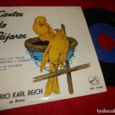 Discos de vinilo: AVERIO KARL REICH DE BREMA TRINOS DE CANARIOS CANTOS DE PAJAROS TRINO 7'' 1959. Lote 125864475