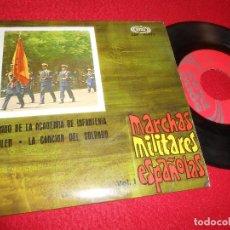 Discos de vinilo: BANDA POLICIA ARMADA DE BARCELONA DIR.J.IGLESIAS MARCHAS MILITARES ESPAÑOLAS /+3 7'' EP 1967. Lote 125864867
