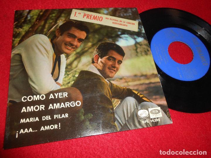 DUO DINAMICO COMO AYER/AMOR AMARGO/MARIA DEL PILAR/¡AAA...AMOR! 7'' EP 1966 LA VOZ DE SU AMO SPAIN (Música - Discos de Vinilo - EPs - Grupos Españoles 50 y 60)