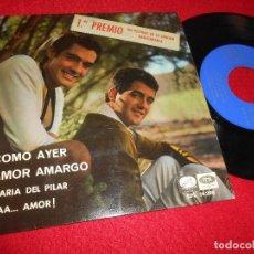 Discos de vinilo: DUO DINAMICO COMO AYER/AMOR AMARGO/MARIA DEL PILAR/¡AAA...AMOR! 7'' EP 1966 LA VOZ DE SU AMO SPAIN. Lote 262872690