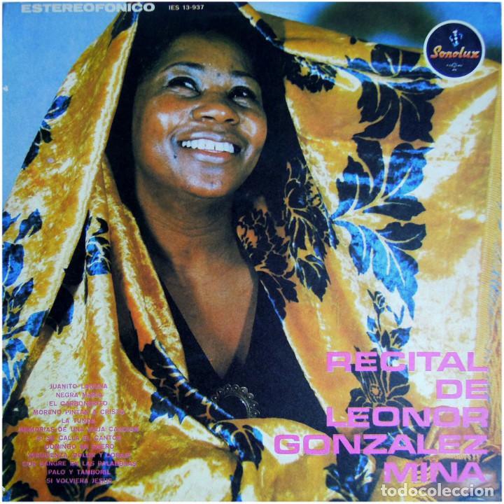 LEONOR GONZALEZ MINA - RECITAL - LP COLOMBIA 1974 - SONOLUX IES 13-937 (Música - Discos - LP Vinilo - Grupos y Solistas de latinoamérica)