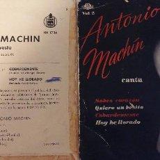 Discos de vinilo: ANTONIO MACHIN SABES CORAZON. Lote 125943743