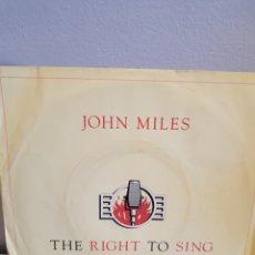 Discos de vinilo: JOHN MILES THE RIGHT TO SING. Lote 125944284
