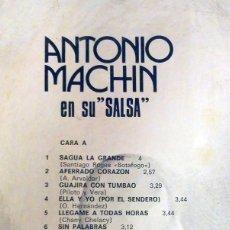 Discos de vinilo: .ANTONIO MACHIN EN SU SALSA. Lote 125950043