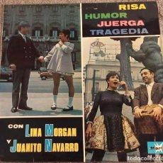 Discos de vinilo: LINA MORGAN Y JUANITO NAVARRO - LP, 1967. Lote 125960799
