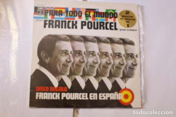 2 DISCOS LPS FRANK POURCEL PARA TODO EL MUNDO Y FRANK POURCEL EN ESPAÑA. EMI-ODEON, 1975 (Música - Discos de Vinilo - Maxi Singles - Orquestas)