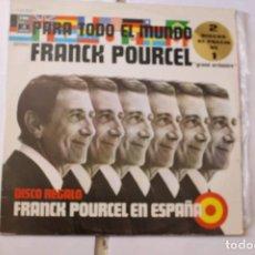 Discos de vinilo: 2 DISCOS LPS FRANK POURCEL PARA TODO EL MUNDO Y FRANK POURCEL EN ESPAÑA. EMI-ODEON, 1975. Lote 125984119