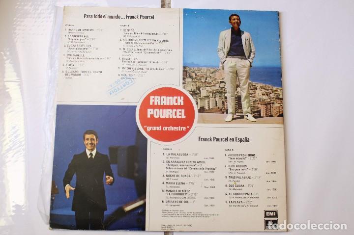 Discos de vinilo: 2 discos LPs Frank Pourcel Para todo el mundo y Frank Pourcel en España. EMI-Odeon, 1975 - Foto 2 - 125984119