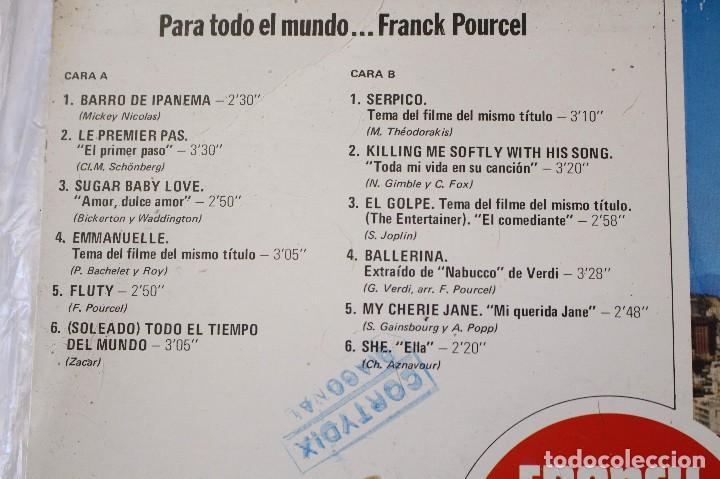 Discos de vinilo: 2 discos LPs Frank Pourcel Para todo el mundo y Frank Pourcel en España. EMI-Odeon, 1975 - Foto 4 - 125984119