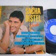 Discos de vinilo: SACHA DISTEL-EP C'EST PAS VRAI +3. Lote 126002987