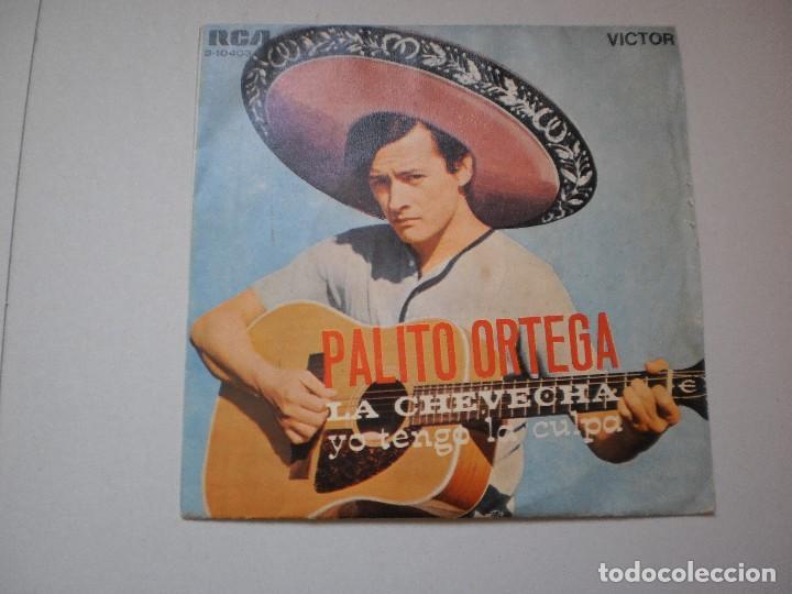 SINGLE PALITO ORTEGA. LA CHEVECHA. YO TENGO LA CULPA. RCA 1969 SPAIN (PROBADO Y BIEN) (Música - Discos - Singles Vinilo - Grupos y Solistas de latinoamérica)