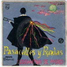 Discos de vinilo: ESTUDIANTINA DE MADRID. PASACALLES Y RONDAS. Lote 126043519