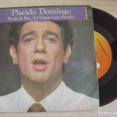 Discos de vinilo: PLACIDO DOMINGO - SILENT NIGHT + LA VIRGEN LAVA PAÑALES - SINGLE 1981 - CBS. Lote 126044147