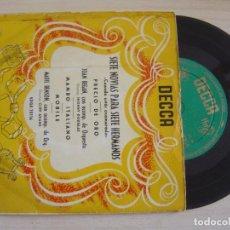 Discos de vinilo: JOAN REGAN, MARIE BENSON - CUANDO ESTAS ENAMORADO + PRECIO DE ORO + MAMBO ITALIANO..- EP 1955. Lote 126047887