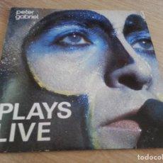 Discos de vinilo: PETER GABRIEL-PLAYS LIVE-DOBLE LP. Lote 126049735