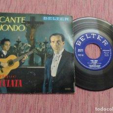 Discos de vinilo: ENRIQUE EL CULATA - CANTE JONDO. Lote 126103427
