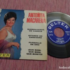 Discos de vinilo: ANTOÑITA MACARENA - QUEBRADEROS DE CABEZA. Lote 126103479