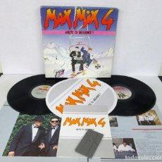 Discos de vinilo: MAX MIX 4 - CAJA 2 LP`+ LIBRO + DOS PATINADORES + MONTADORA - MAX MUSIC 1986 SPAIN. Lote 126111679