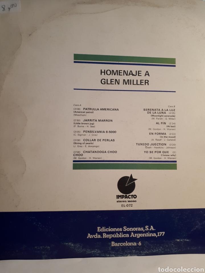 Discos de vinilo: HOMENATJE A GLEN MILLER - Foto 2 - 126112023