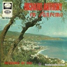 Discos de vinilo: RICHARD ANTHONY EN SAN REMO EP SELLO LA VOZ DE SU AMO AÑO 1966. Lote 126124575