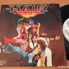 Discos de vinilo: HAIR (EASY TO BE HARD) SINGLE 1979 ESPAÑA PROMO (EPI13). Lote 126175115