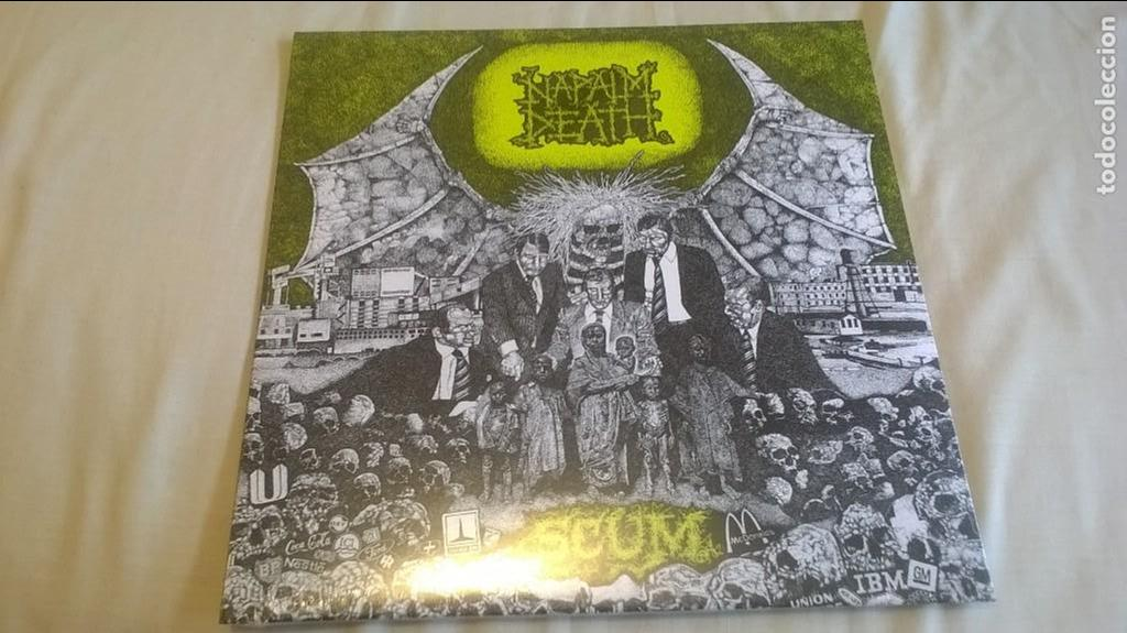 NAPALM DEATH LP BRUTAL DEATH METAL SUFFOCATION IMMOLATION CANNIBAL CORPSE MORBID ANGEL DEICIDE VADER (Música - Discos - LP Vinilo - Heavy - Metal)