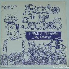 Discos de vinilo: FUZZIO Y LOS SUCIOS/INVASORES EP EDICION NUMERADA 425/1000 CON COMIC. Lote 126258259
