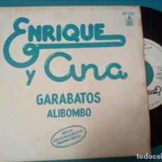 Discos de vinilo: ENRIQUE Y ANA, GARABATOS + ALIBOMBO (HISPAVOX) SINGLE PROMOCIONAL - RAFAEL TRABUCCHELLI. Lote 143012592