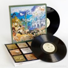 Discos de vinilo: CANCIONERO POPULAR DE MADRID. CAJA 2 LP'S Y LIBRO . Lote 126280835