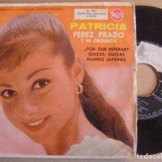 Discos de vinilo: PEREZ PRADO - PATRICIA - EP 1958 - RCA. Lote 126290275