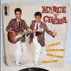 Discos de vinilo: MARCE Y CHEMA / LECCIÓN DE TWIST / SG - BELTER - 1980 / BC **/** ACEPTABLE.. Lote 126298543