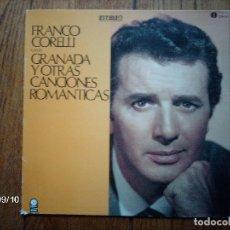 Discos de vinilo: FRANCO CORELLI CANTA GRANADA Y OTRAS CANCIONES ROMÁNTICAS . Lote 126299535