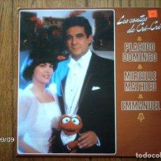 Discos de vinilo: PLACIDO DOMINGO - MIREILLE MATHIEU - EMMANUEL - LES CONTES DE CRI-CRI . Lote 126299815