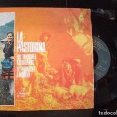 Discos de vinilo: LA PASTORINA - LOS TAMBORES ASTURIANOS + YE PEQUEÑINA Y MORENA SINGLE COLUMBIA1972 ASTURIAS . Lote 126306495