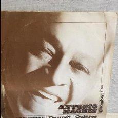 Discos de vinilo: ANTONIO MACHÍN / NEGRITO !! ¿ DE QUÉ ? / SG - DISCOPHON - 1970 / MBC. **/***. Lote 126343527